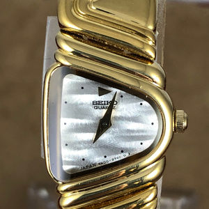 Vintage Rare Seiko 1`8K Gold Plated Piano Watch